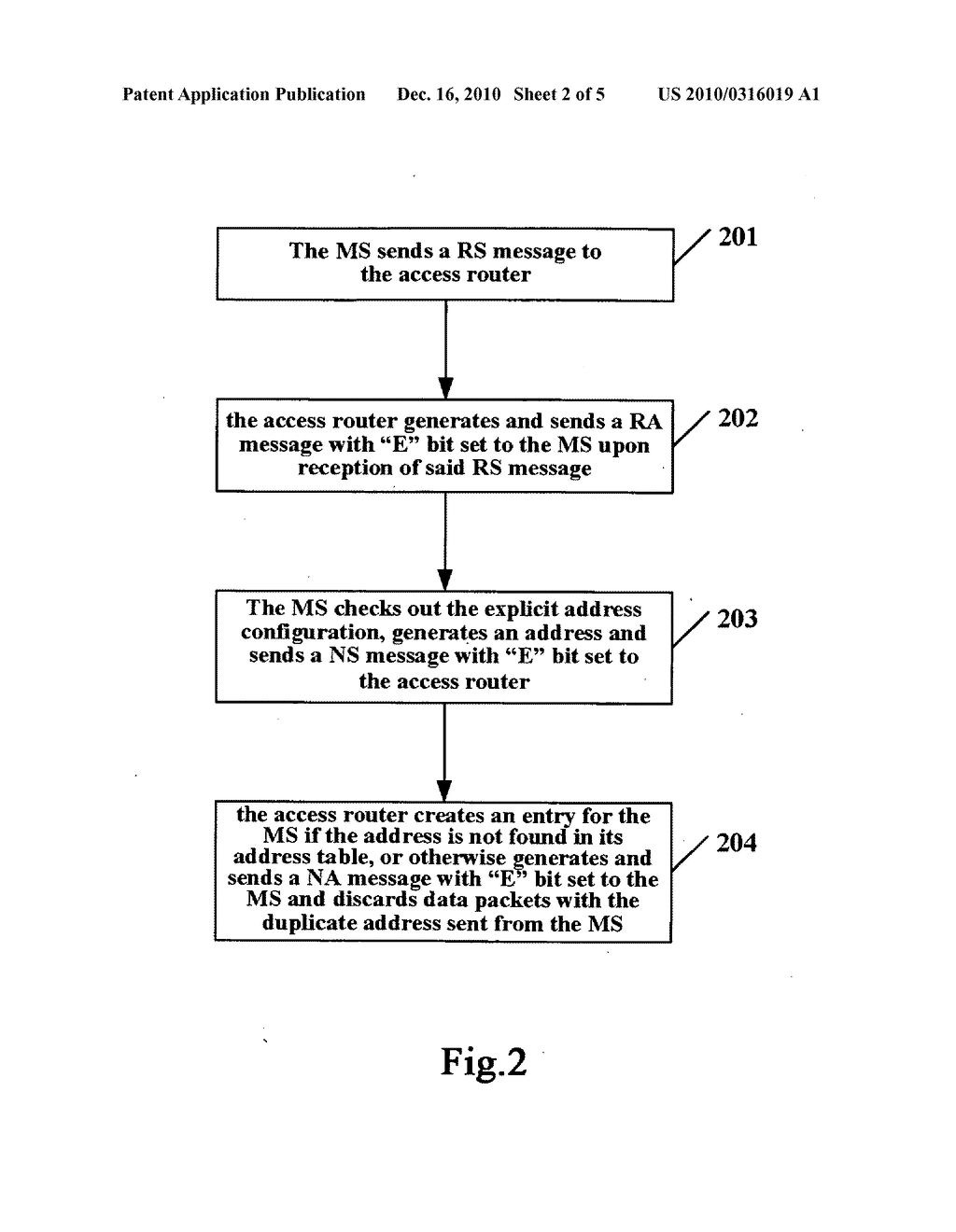 METHOD FOR DETECTING A DUPLICATE ADDRESS, MOBILE STATION, NETWORK ELEMENT AND COMMUNICATION SYSTEM - diagram, schematic, and image 03