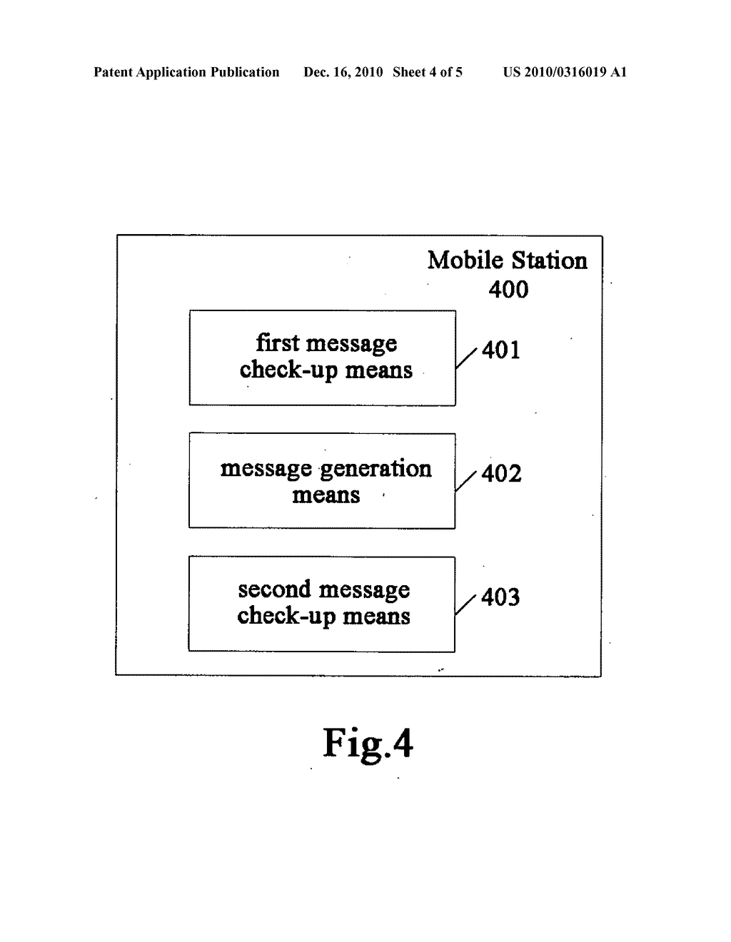 METHOD FOR DETECTING A DUPLICATE ADDRESS, MOBILE STATION, NETWORK ELEMENT AND COMMUNICATION SYSTEM - diagram, schematic, and image 05