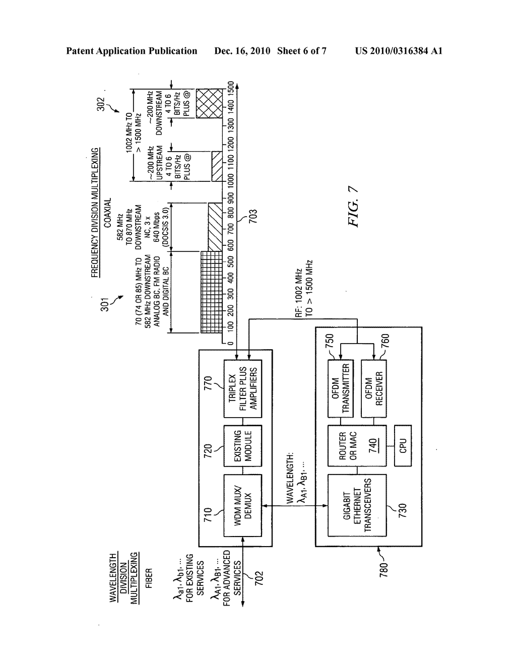 Point-to-multipoint high data rate delivery systems from optical node in HFC systems over existing and advanced coaxial network - diagram, schematic, and image 07