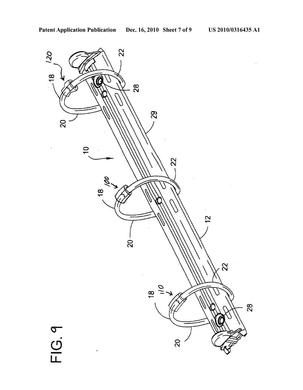 Device and method for aligning and securing a ring binder mechanism - diagram, schematic, and image 08
