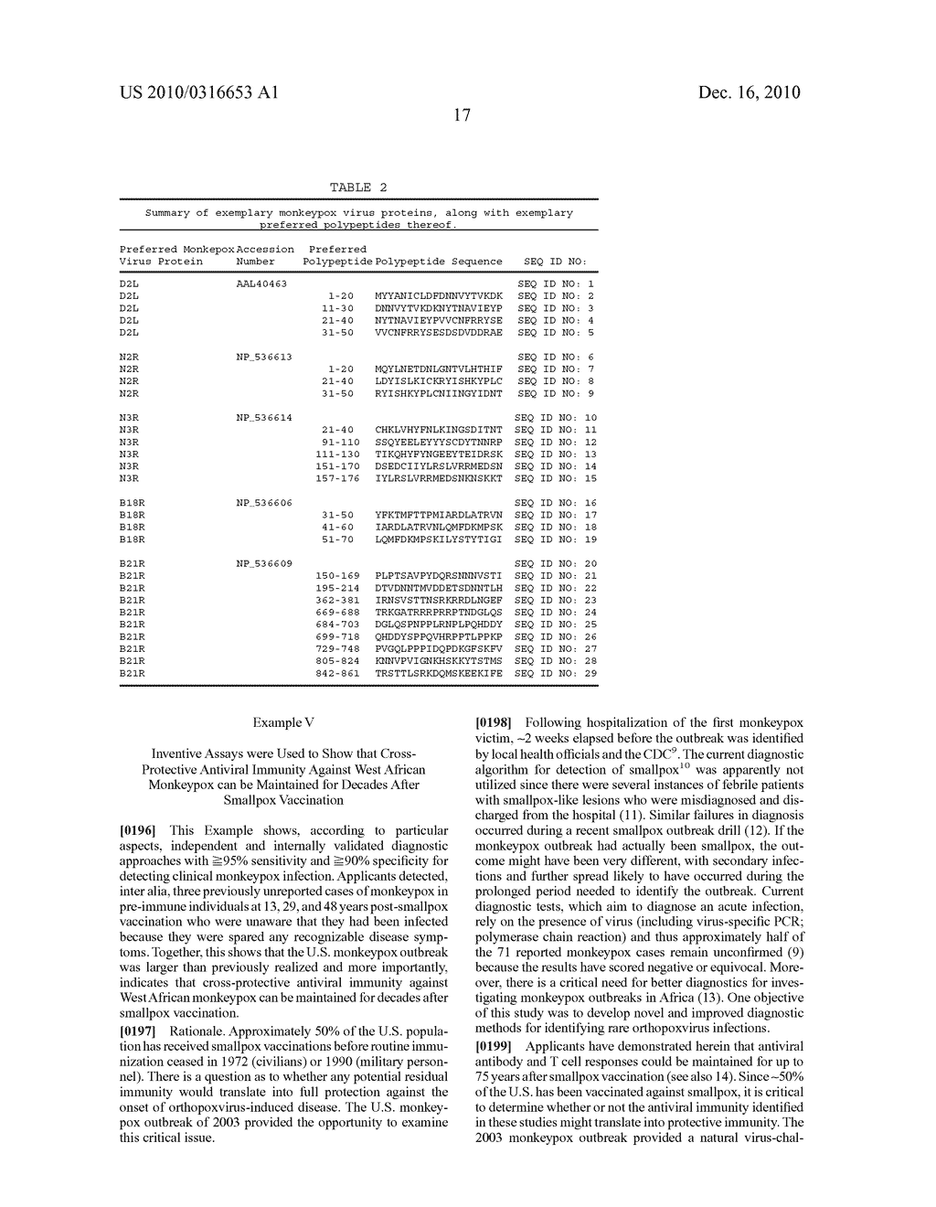 COMPOSITIONS AND METHODS FOR DIAGNOSIS AND TREATMENT OF ORTHOPOXVIRUSES - diagram, schematic, and image 28