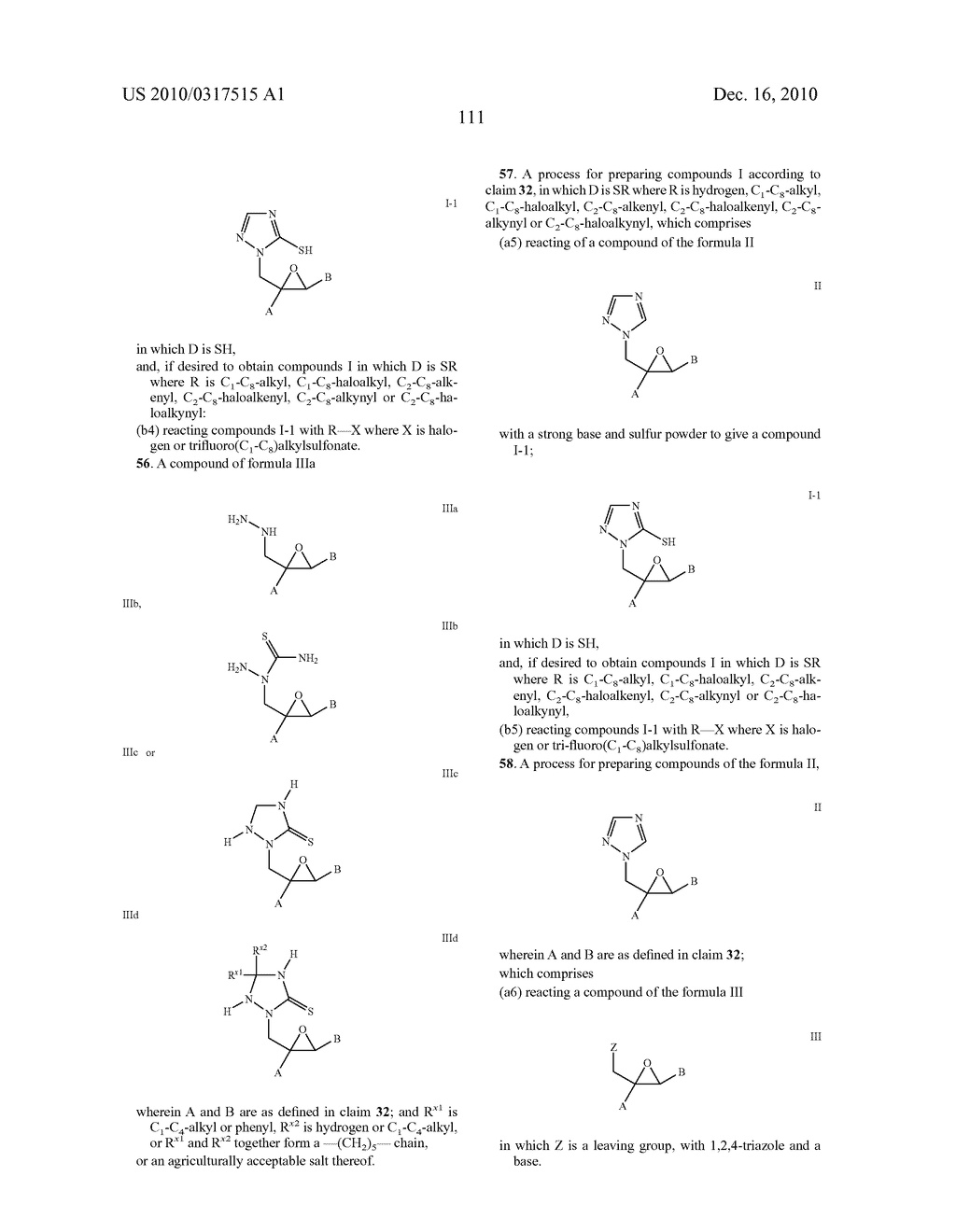 Azolylmethyloxiranes, use Thereof and Agents Containing the Same - diagram, schematic, and image 112
