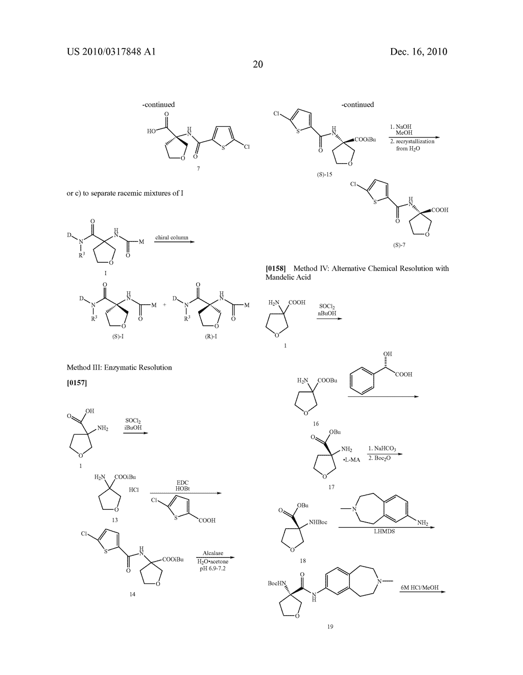 PROCESS FOR THE SYNTHESIS OF DERIVATIVES OF 3-AMINO-TETRAHYDROFURAN-3-CARBOXYLIC ACID AND USE THEREOF AS MEDICAMENTS - diagram, schematic, and image 25