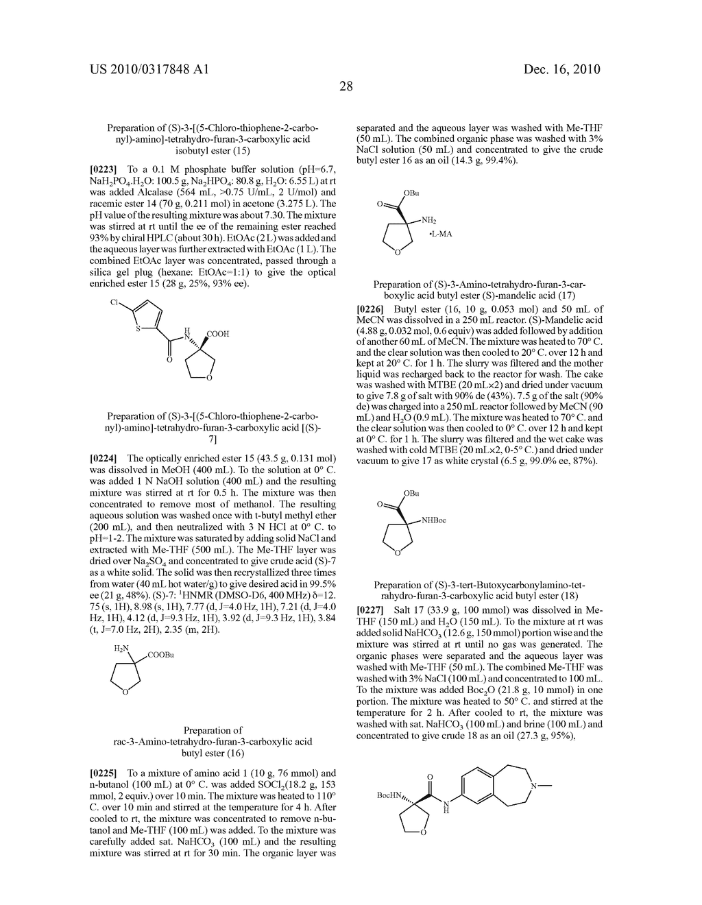 PROCESS FOR THE SYNTHESIS OF DERIVATIVES OF 3-AMINO-TETRAHYDROFURAN-3-CARBOXYLIC ACID AND USE THEREOF AS MEDICAMENTS - diagram, schematic, and image 33