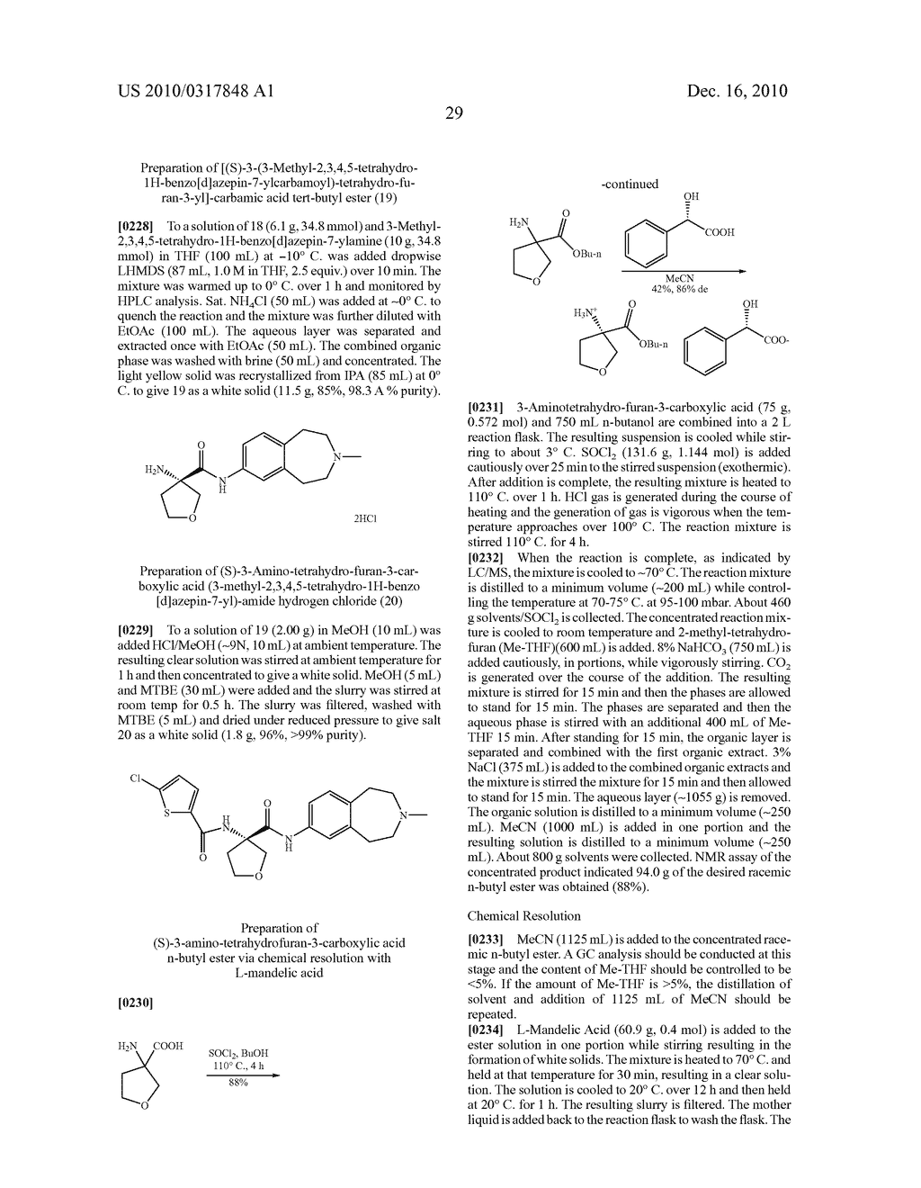 PROCESS FOR THE SYNTHESIS OF DERIVATIVES OF 3-AMINO-TETRAHYDROFURAN-3-CARBOXYLIC ACID AND USE THEREOF AS MEDICAMENTS - diagram, schematic, and image 34