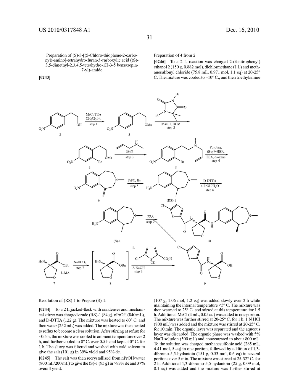 PROCESS FOR THE SYNTHESIS OF DERIVATIVES OF 3-AMINO-TETRAHYDROFURAN-3-CARBOXYLIC ACID AND USE THEREOF AS MEDICAMENTS - diagram, schematic, and image 36