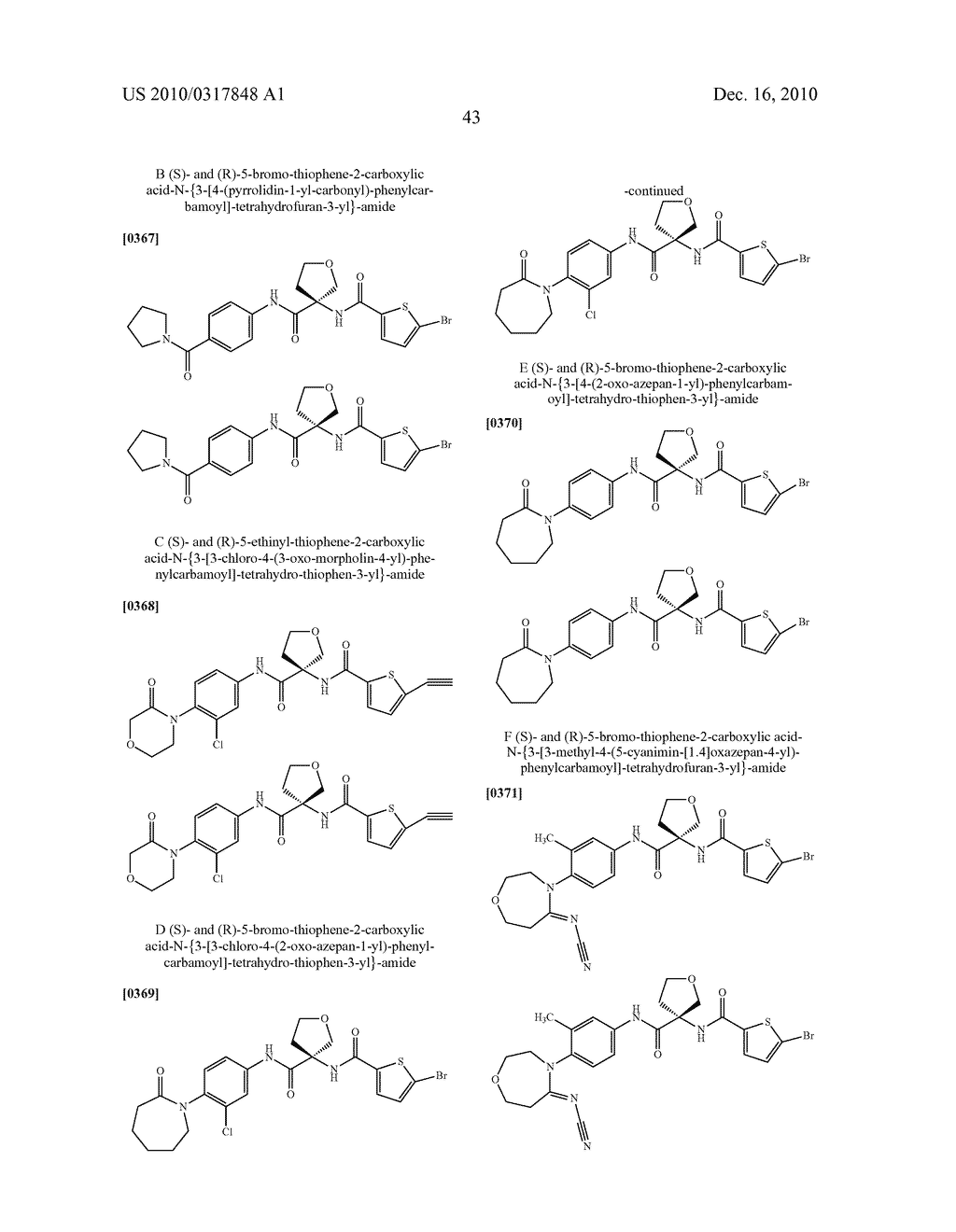 PROCESS FOR THE SYNTHESIS OF DERIVATIVES OF 3-AMINO-TETRAHYDROFURAN-3-CARBOXYLIC ACID AND USE THEREOF AS MEDICAMENTS - diagram, schematic, and image 48