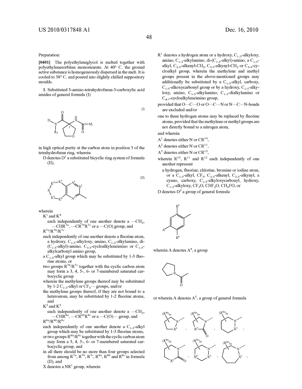PROCESS FOR THE SYNTHESIS OF DERIVATIVES OF 3-AMINO-TETRAHYDROFURAN-3-CARBOXYLIC ACID AND USE THEREOF AS MEDICAMENTS - diagram, schematic, and image 53