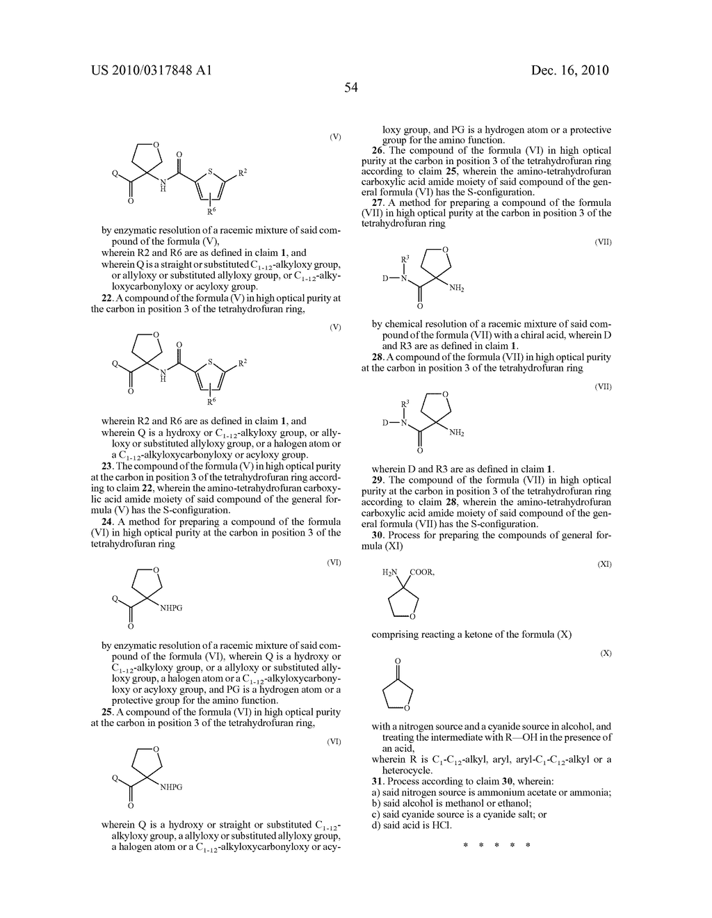 PROCESS FOR THE SYNTHESIS OF DERIVATIVES OF 3-AMINO-TETRAHYDROFURAN-3-CARBOXYLIC ACID AND USE THEREOF AS MEDICAMENTS - diagram, schematic, and image 59