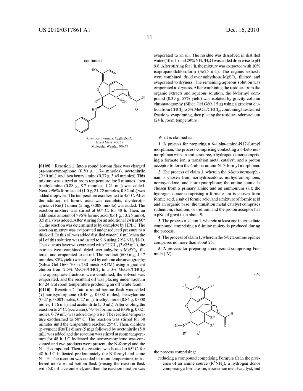 Remove Amination of 6-Keto Normorphinans by Catalytic Hydrogen Transfer - diagram, schematic, and image 12