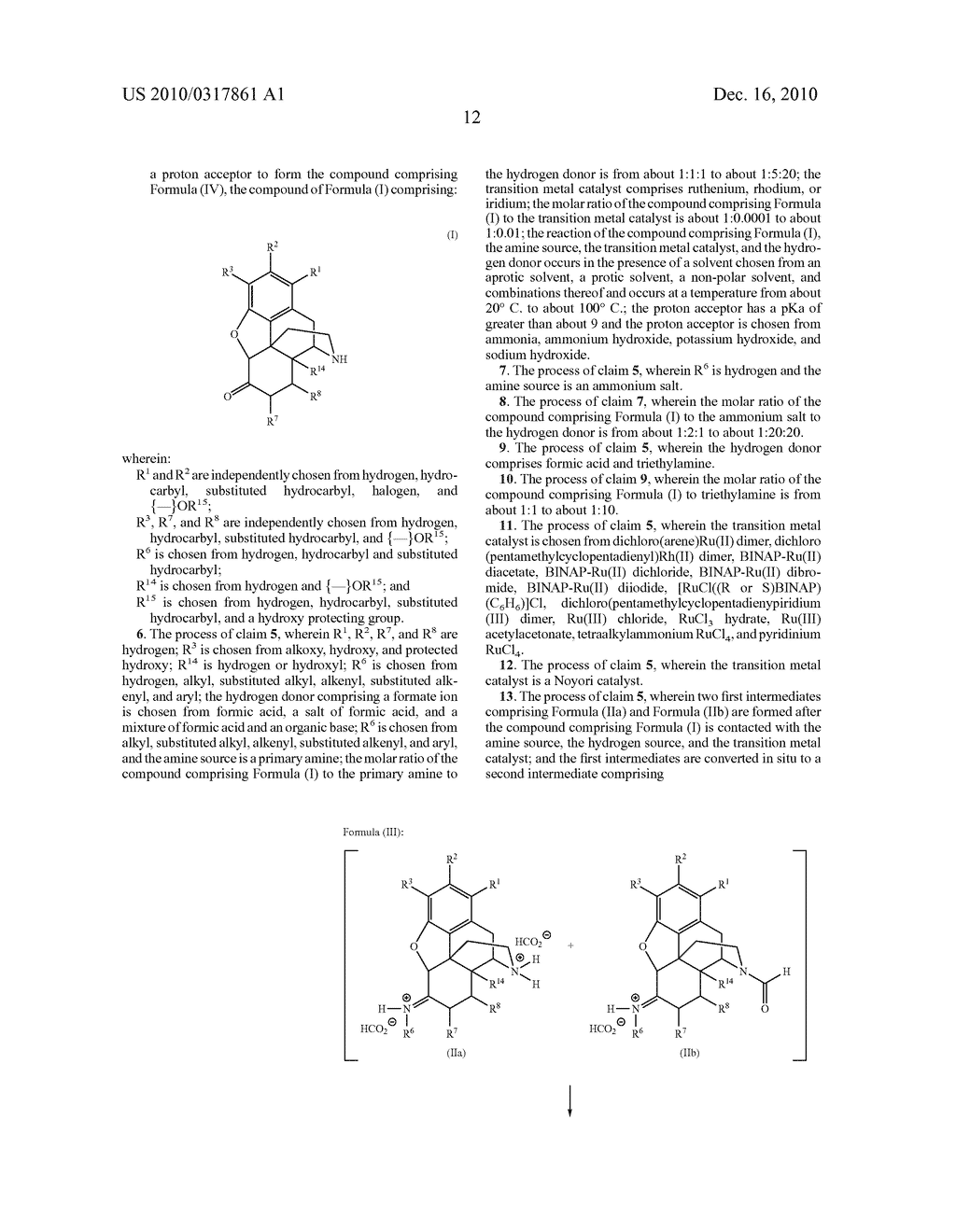 Remove Amination of 6-Keto Normorphinans by Catalytic Hydrogen Transfer - diagram, schematic, and image 13