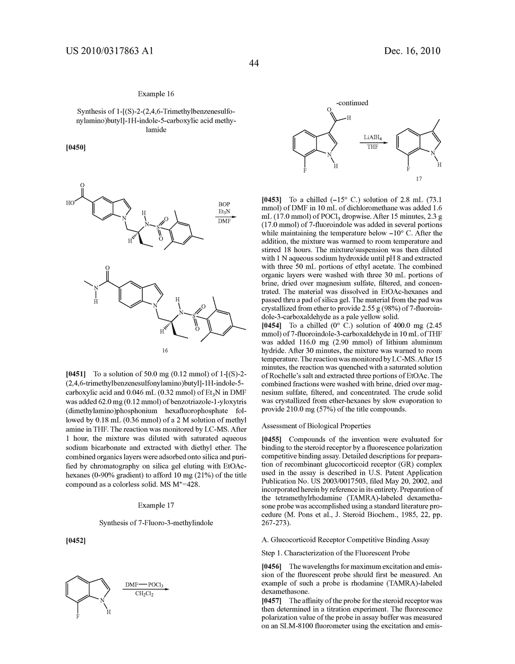 Glucocorticoid Mimetics, Methods of Making Them, Pharmaceutical Compositions and Uses Thereof - diagram, schematic, and image 45