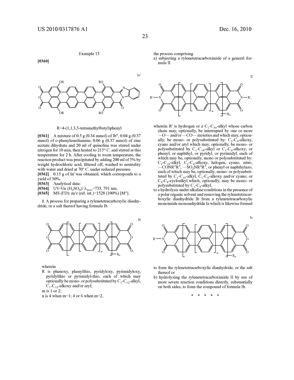 TERRYLENE AND QUATERRYLENE DERIVATIVES - diagram, schematic, and image 24