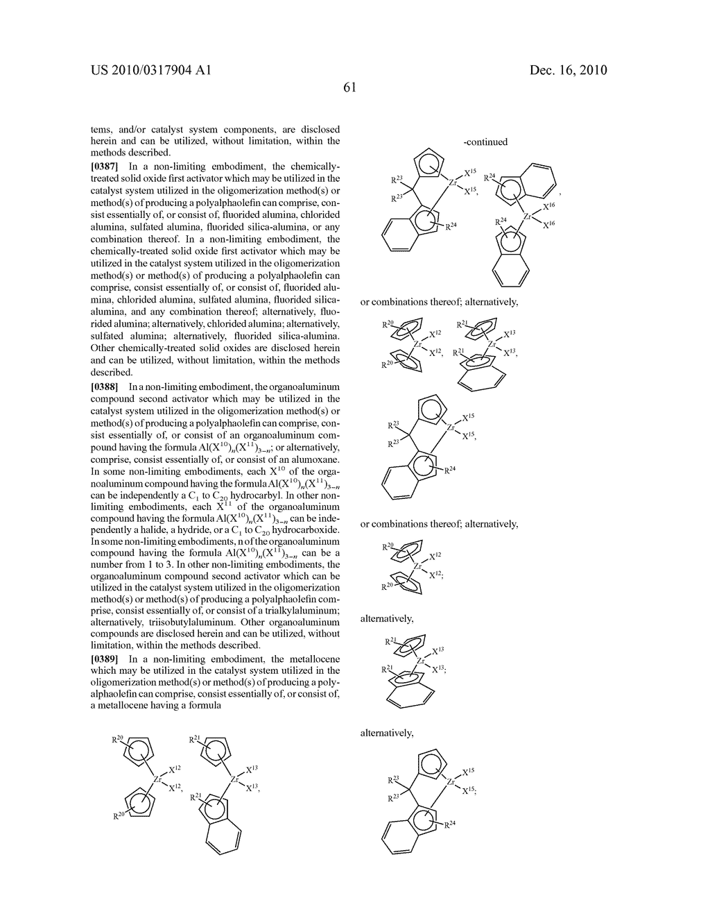 OLIGOMERIZATION OF ALPHA OLEFINS USING METALLOCENE-SSA CATALYST SYSTEMS AND USE OF THE RESULTANT POLYALPHAOLEFINS TO PREPARE LUBRICANT BLENDS - diagram, schematic, and image 73