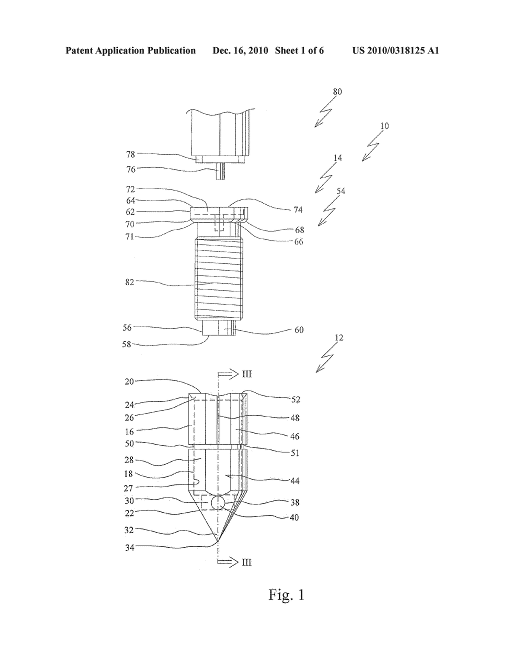 Anchor Device For Knot-Free Attachment Of Tissue To A Bone - diagram, schematic, and image 02