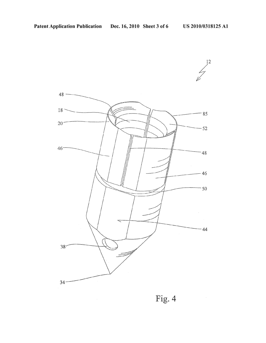 Anchor Device For Knot-Free Attachment Of Tissue To A Bone - diagram, schematic, and image 04