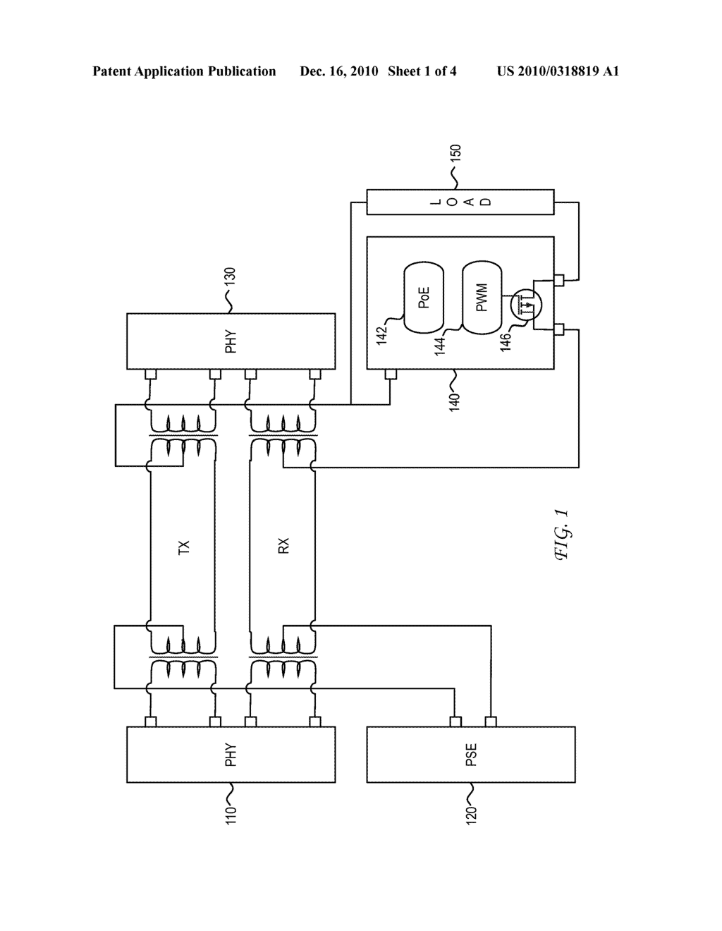 System and Method for Integrated Temperature Measurement in Power over Ethernet Applications - diagram, schematic, and image 02