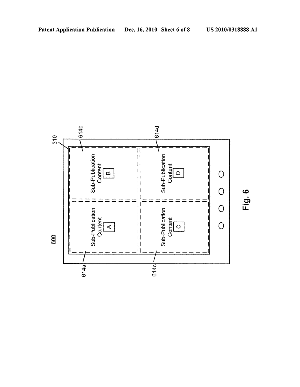 SYSTEM AND METHOD FOR PROVIDING SUB-PUBLICATION CONTENT IN AN ELECTRONIC DEVICE - diagram, schematic, and image 07