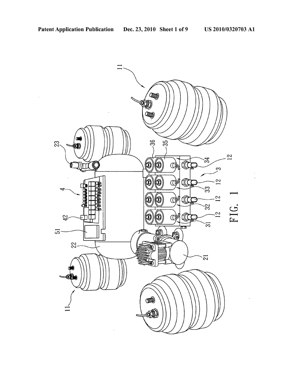 Intelligent Electronic Air Suspension System That Automatically Schematic Adjusts Its Pressure Diagram And Image 02