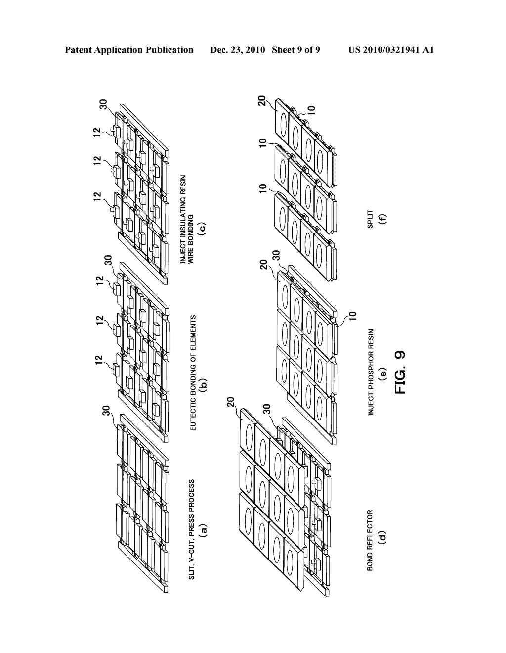 METHOD FOR MANUFACTURING LIGHT EMITTING APPARATUS, LIGHT EMITTING APPARATUS, AND MOUNTING BASE THEREOF - diagram, schematic, and image 10