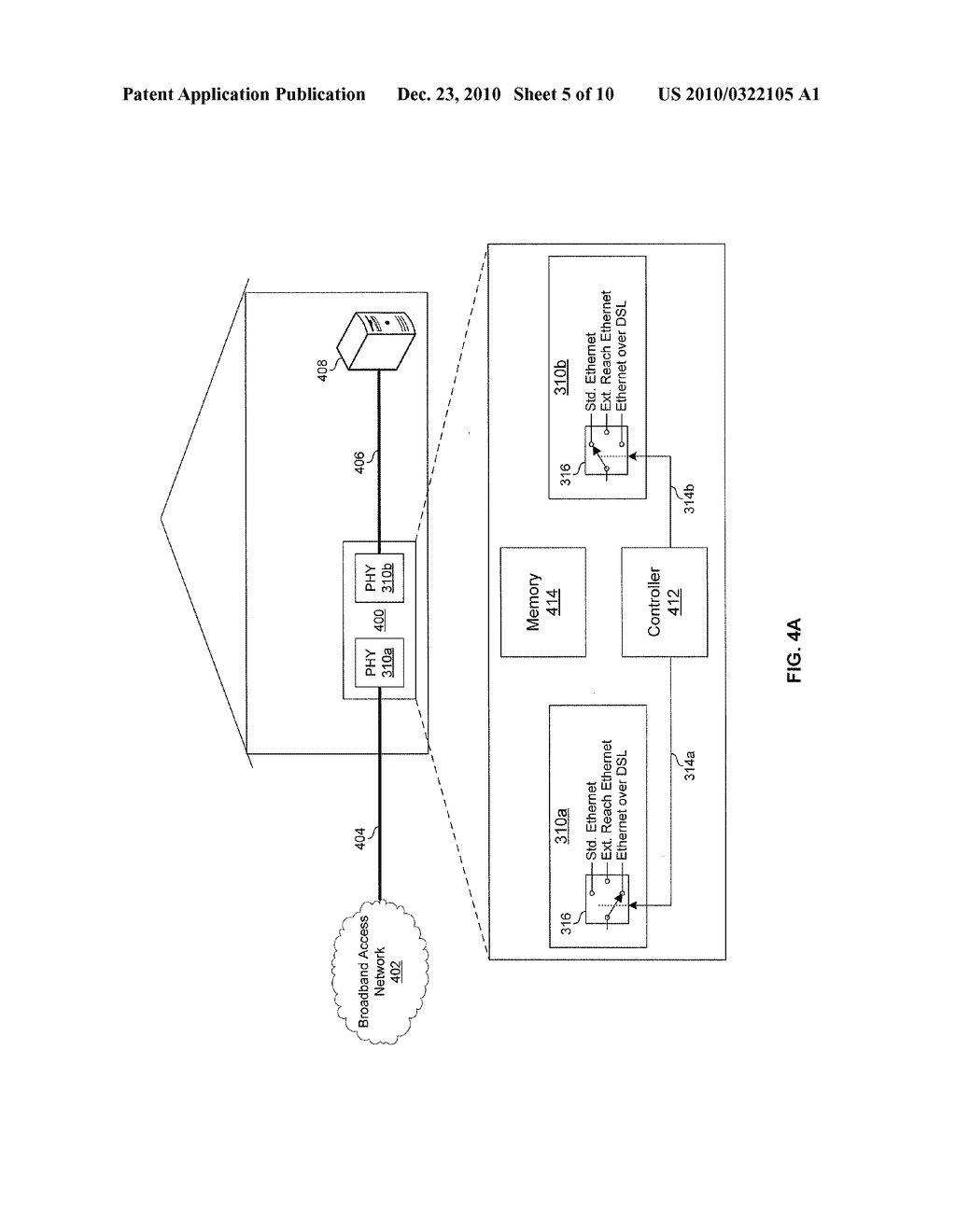METHOD AND SYSTEM FOR NETWORK COMMUNICATIONS VIA A CONFIGURABLE MULTI-USE ETHERNET PHY - diagram, schematic, and image 06