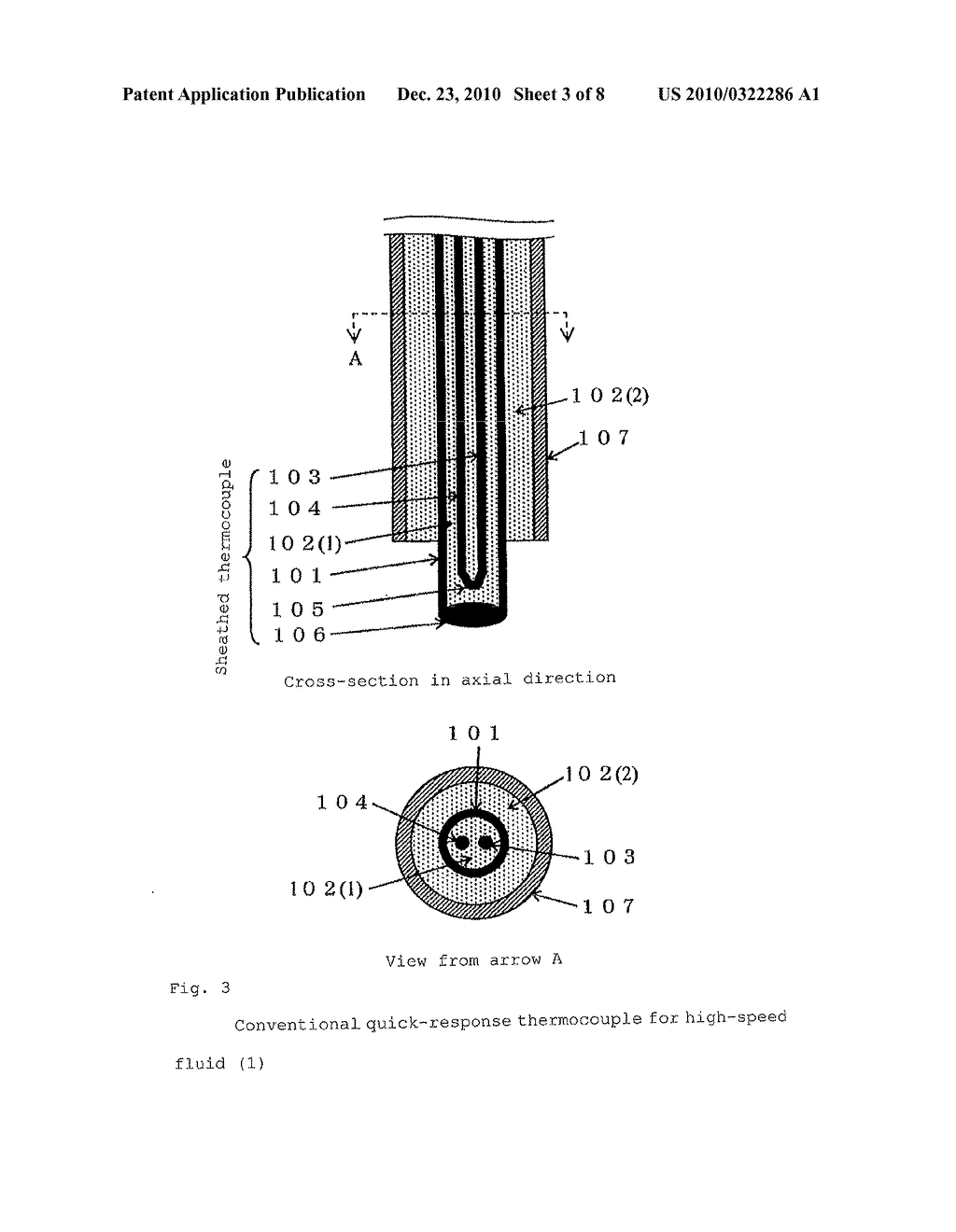 QUICK-RESPONSE THERMOCOUPLE FOR HIGH-SPEED FLUID - diagram, schematic, and image 04