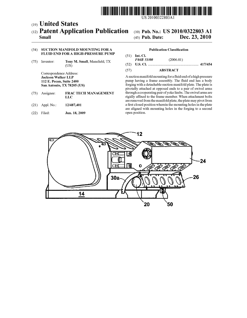 SUCTION MANIFOLD MOUNTING FOR A FLUID END FOR A HIGH