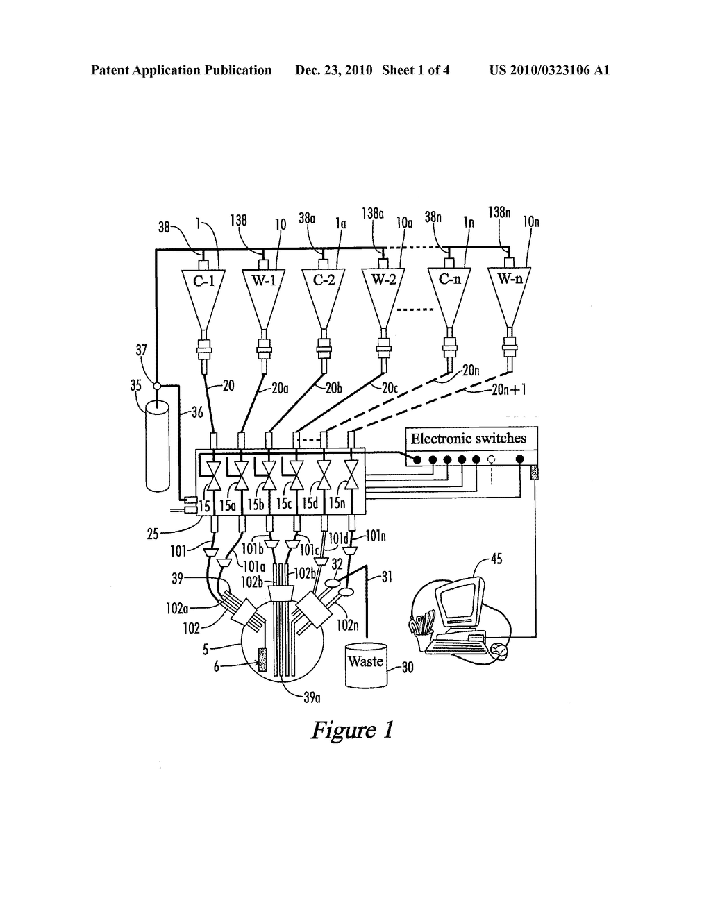 Apparatus for Automatic Depositing of Multiple Ultra-Thin Layers Using Layer-by Layer Deposition and Method for Using the Same - diagram, schematic, and image 02