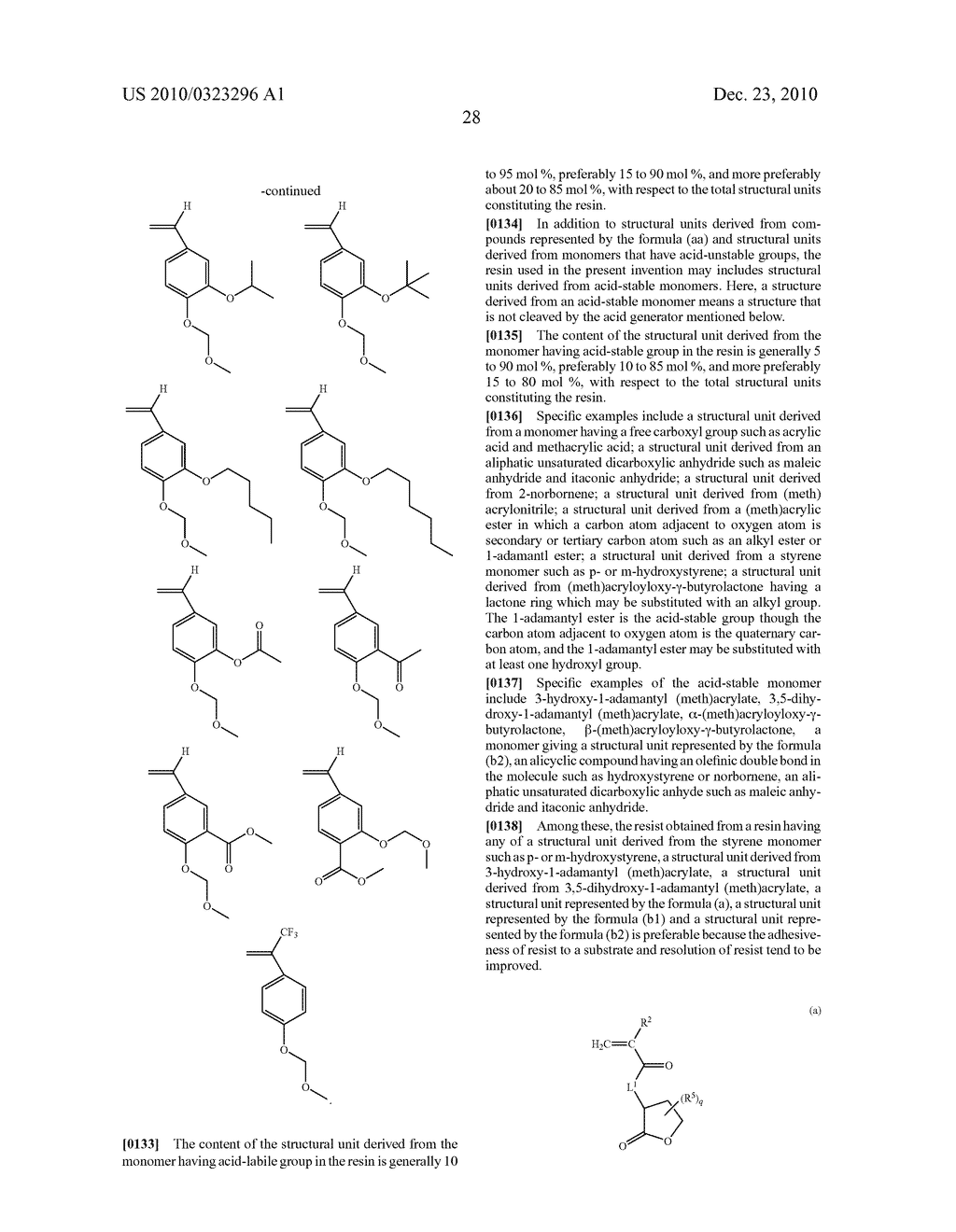 RESIN AND RESIST COMPOSITION - diagram, schematic, and image 29