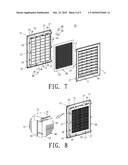 TWO PART GRILLE WITH INTERLOCKING CONNECTIONS FOR ASSEMBLY IN DOORS OR THE LIKE diagram and image