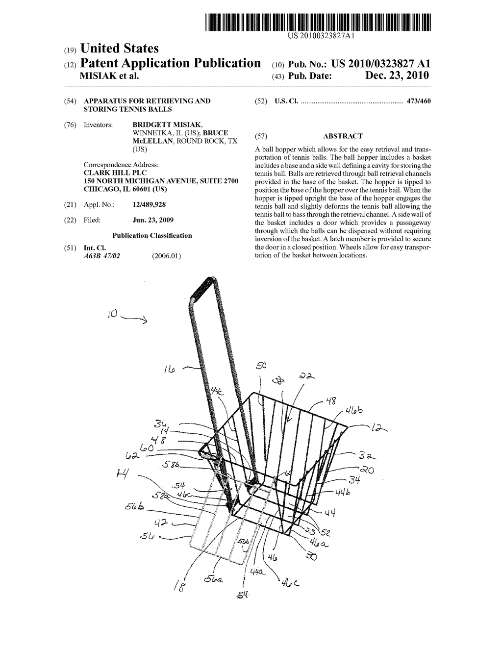 APPARATUS FOR RETRIEVING AND STORING TENNIS BALLS - diagram, schematic, and image 01