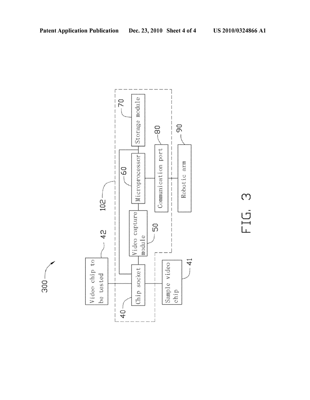 TESTING SYSTEM AND METHOD FOR VIDEO CHIP - diagram, schematic, and image 05