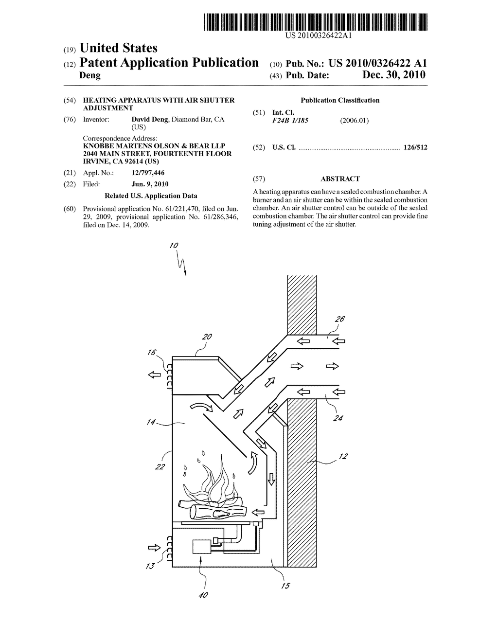 HEATING APPARATUS WITH AIR SHUTTER ADJUSTMENT - diagram, schematic, and image 01
