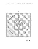 SEMICONDUCTOR CHIP ASSEMBLY WITH POST/BASE/FLANGE HEAT SPREADER AND CAVITY IN FLANGE diagram and image