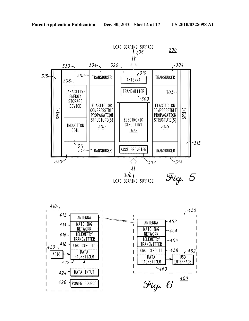 SYSTEM AND METHOD FOR INTEGRATED ANTENNA IN A SENSING MODULE FOR MEASUREMENT OF THE MUSCULAR-SKELETAL SYSTEM - diagram, schematic, and image 05
