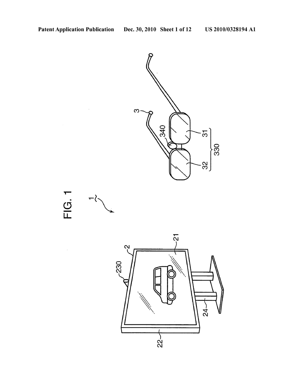 Display device, eyeglass device and video system with them - diagram, schematic, and image 02