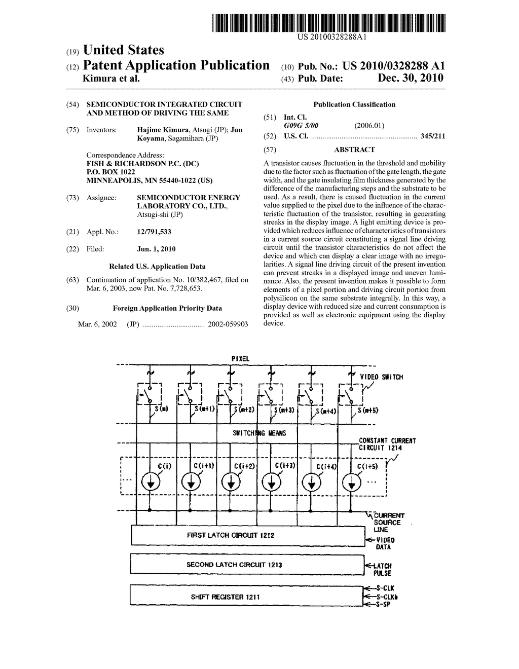 SEMICONDUCTOR INTEGRATED CIRCUIT AND METHOD OF DRIVING THE SAME - diagram, schematic, and image 01