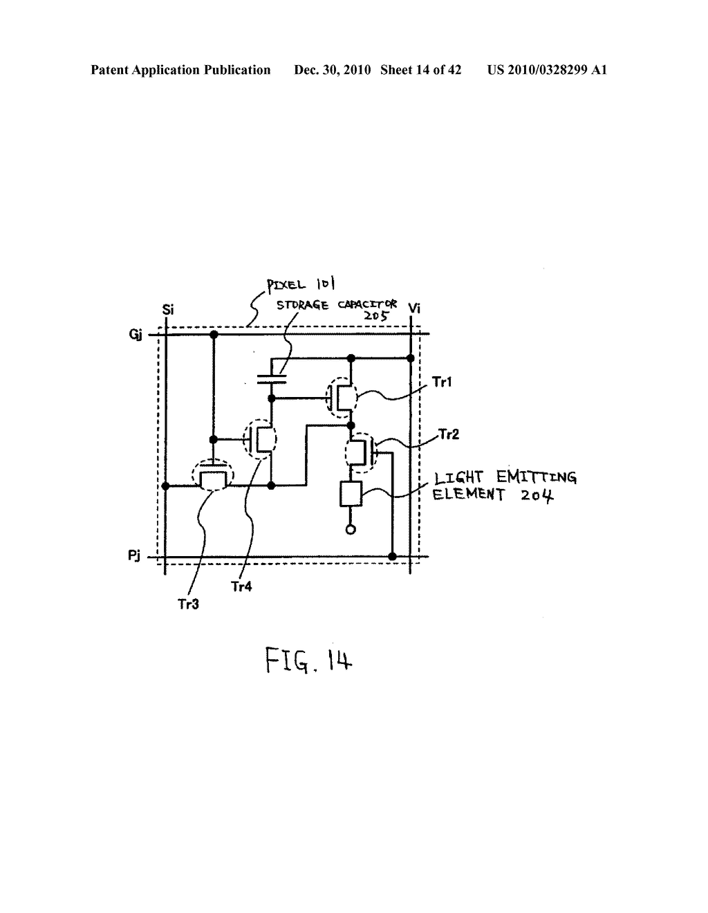 LIGHT EMITTING DEVICE, DRIVING METHOD OF LIGHT EMITTING DEVICE AND ELECTRONIC DEVICE - diagram, schematic, and image 15