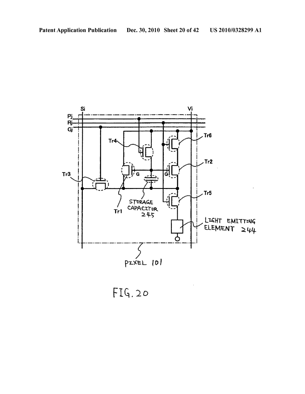 LIGHT EMITTING DEVICE, DRIVING METHOD OF LIGHT EMITTING DEVICE AND ELECTRONIC DEVICE - diagram, schematic, and image 21