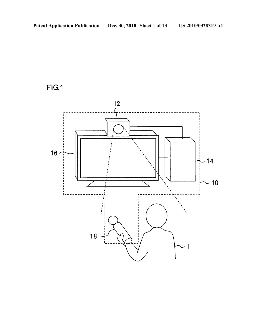 INFORMATION PROCESSOR AND INFORMATION PROCESSING METHOD FOR PERFORMING PROCESS ADAPTED TO USER MOTION - diagram, schematic, and image 02