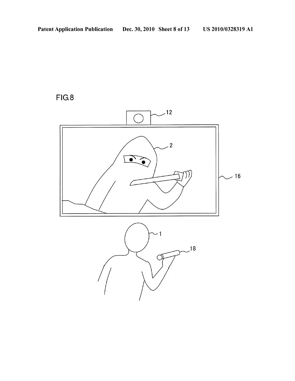 INFORMATION PROCESSOR AND INFORMATION PROCESSING METHOD FOR PERFORMING PROCESS ADAPTED TO USER MOTION - diagram, schematic, and image 09