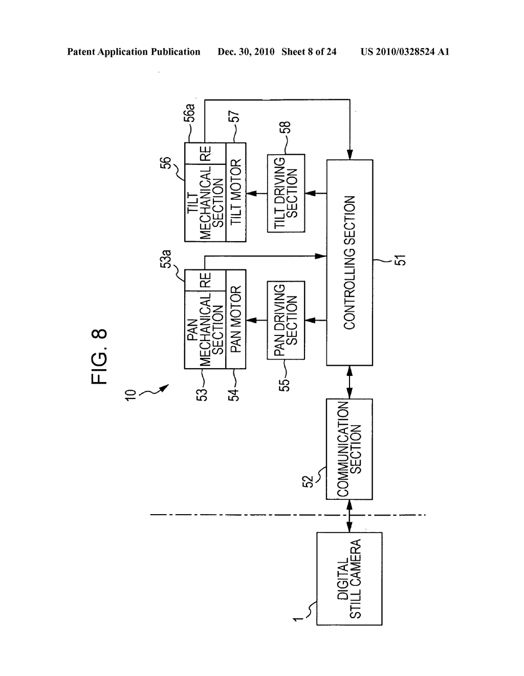Movable-mechanical-section controlling device, method of controlling movable mechanical section, and program - diagram, schematic, and image 09