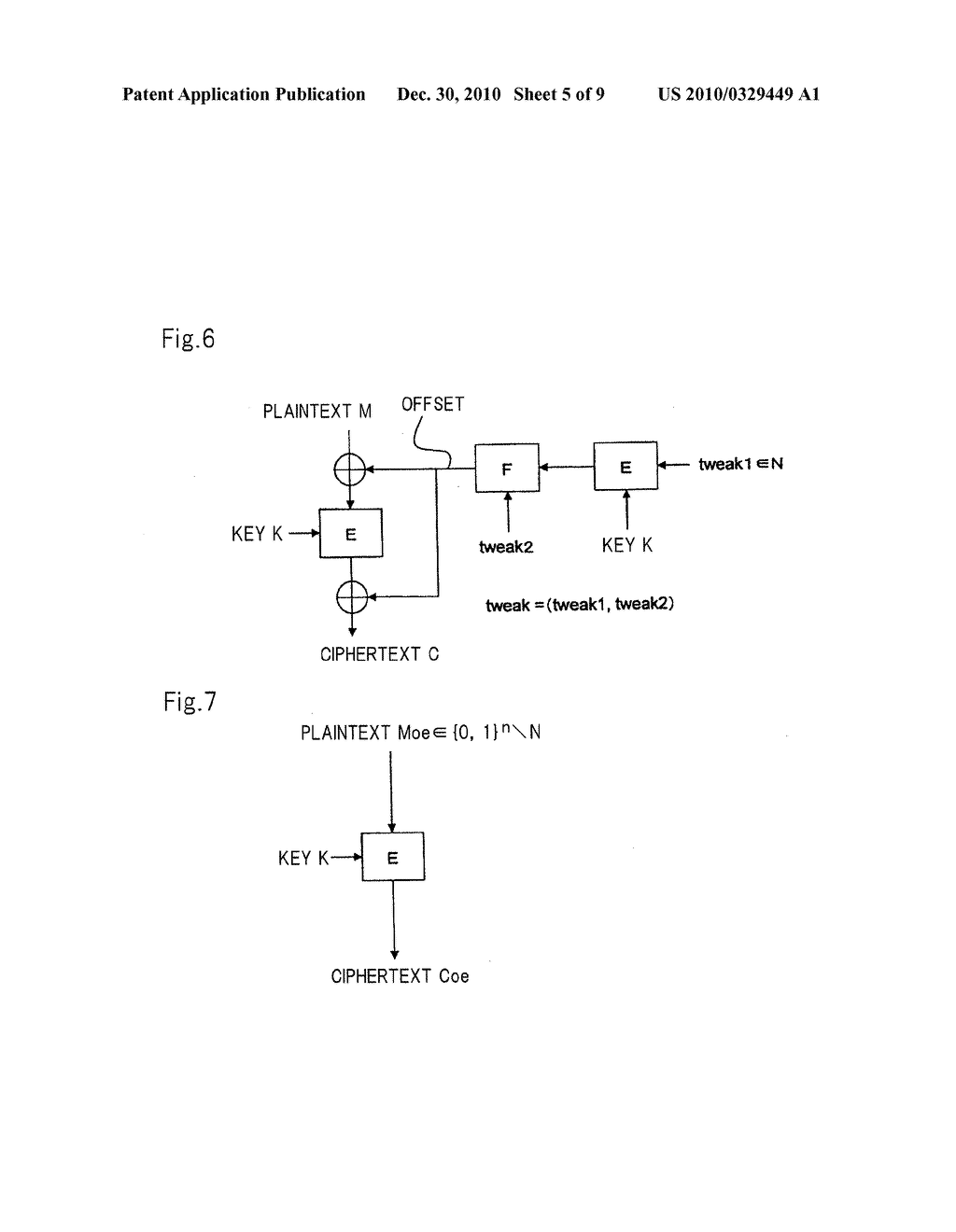 ADJUSTMENT-VALUE-ATTACHED BLOCK CIPHER APPARATUS, CIPHER GENERATION METHOD AND RECORDING MEDIUM - diagram, schematic, and image 06