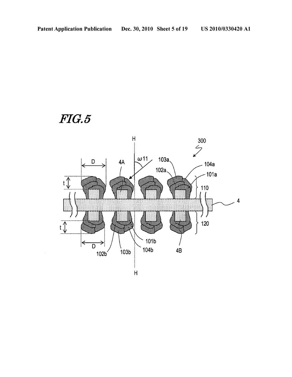 METHOD FOR MANUFACTURING ELECTROCHEMICAL ELEMENT ELECTRODE - diagram, schematic, and image 06