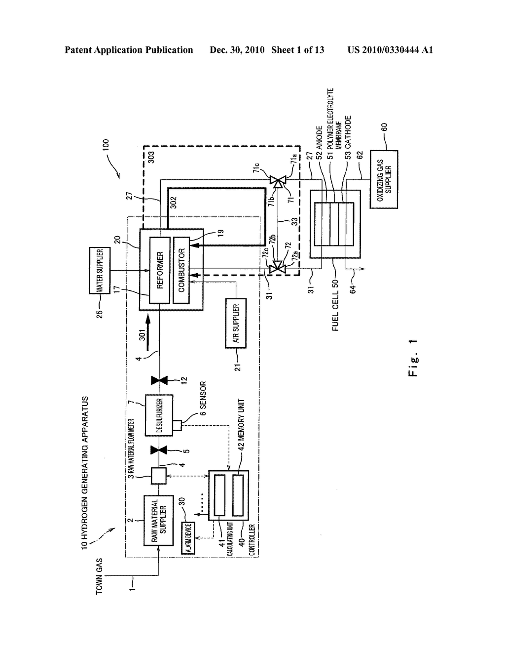 HYDROGEN GENERATING APPARATUS AND FUEL CELL SYSTEM - diagram, schematic, and image 02