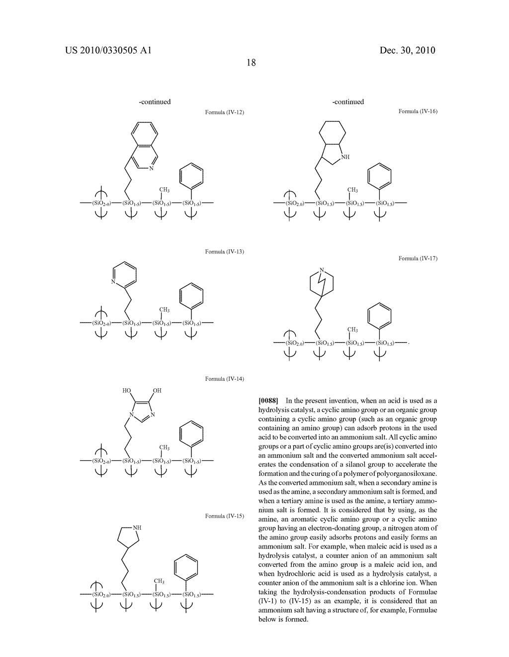 RESIST UNDERLAYER FILM FORMING COMPOSITION CONTAINING SILICONE HAVING CYCLIC AMINO GROUP - diagram, schematic, and image 21