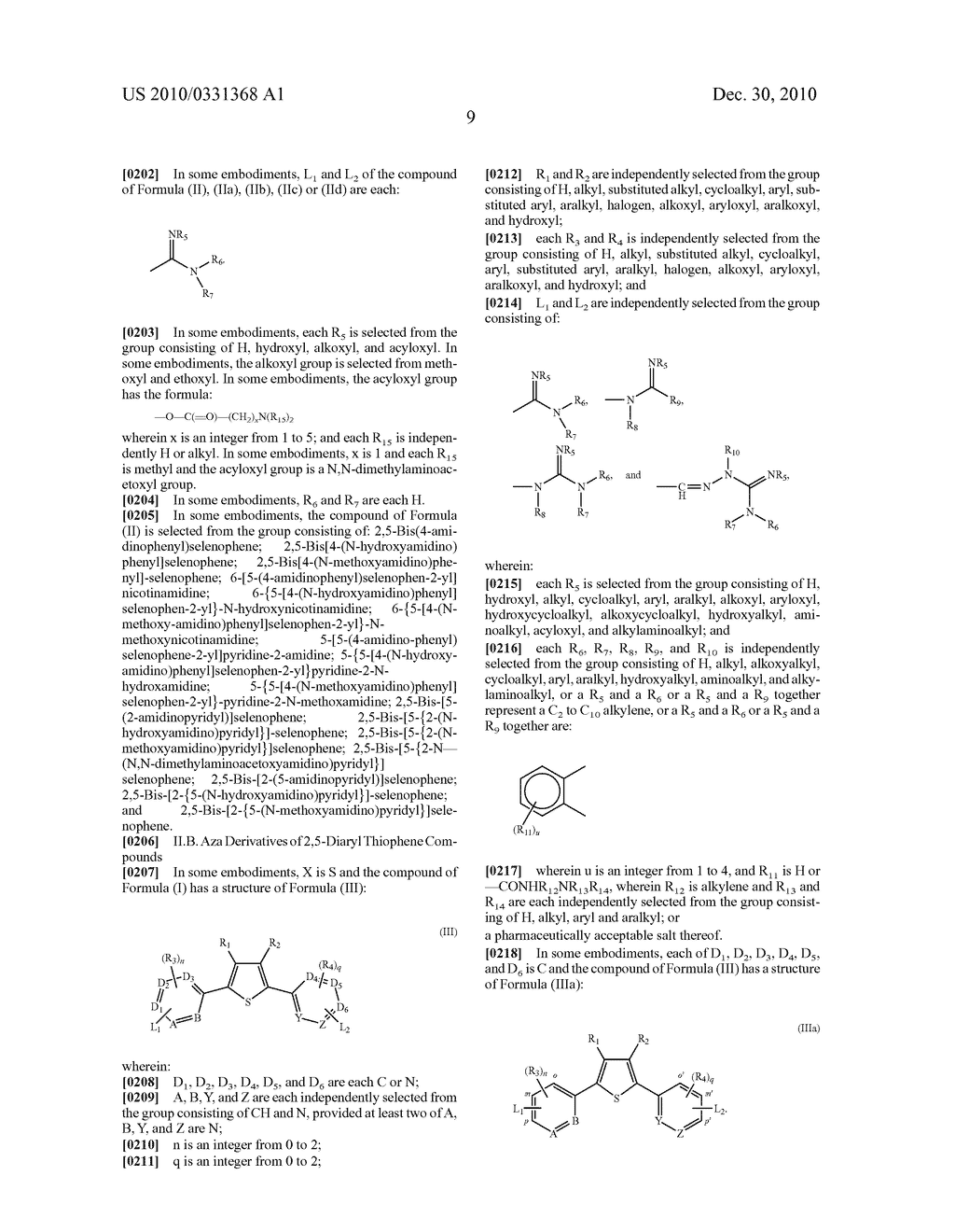 2,5-DIARYL SELENOPHENE COMPOUNDS, AZA 2,5-DIARYL THIOPHENE COMPOUNDS, AND THEIR PRODRUGS AS ANTIPROTOZOAL AGENTS - diagram, schematic, and image 10