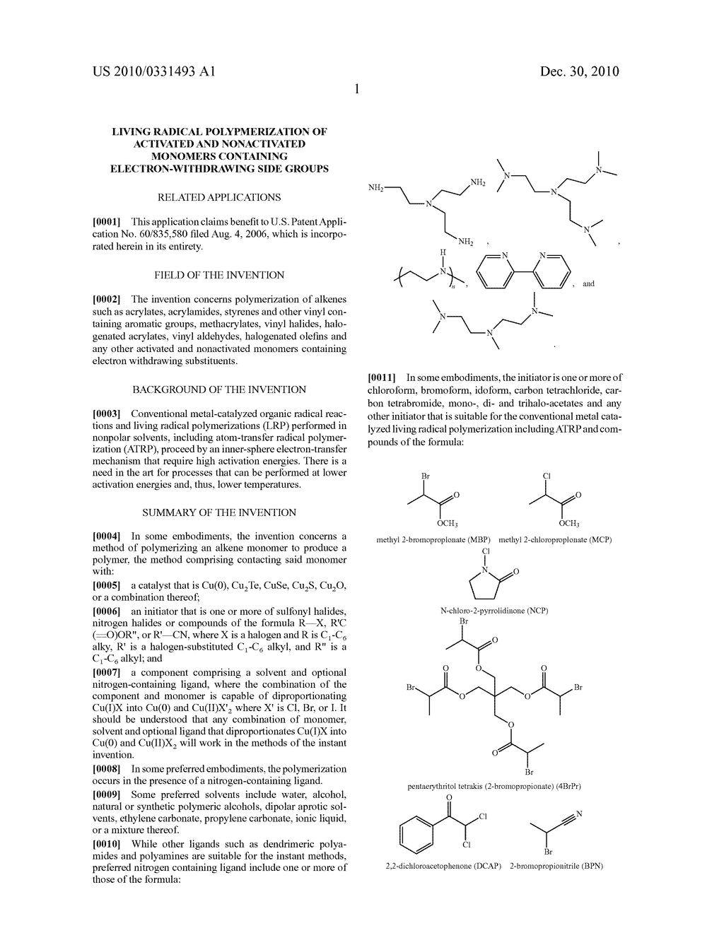 LIVING RADICAL POLYPMERIZATION OF ACTIVATED AND NONACTIVATED MONOMERS CONTAINING ELECTRON-WITHDRAWING SIDE GROUPS - diagram, schematic, and image 11