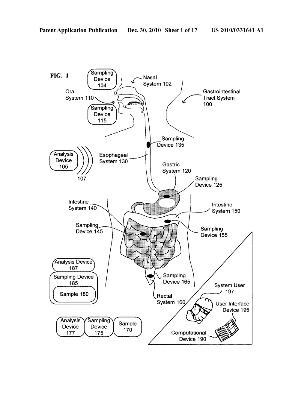 Devices for continual monitoring and introduction of gastrointestinal microbes - diagram, schematic, and image 02