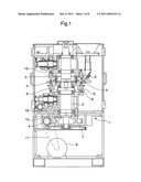 Rotary powder compression molding machine diagram and image